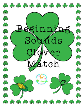 Beginning Sounds Clover Match