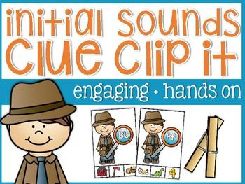 Beginning Sounds Clue Clip It