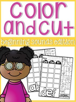 Beginning Sounds Color, Cut, and Glue