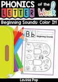 Beginning Sounds Color It! Distance Learning