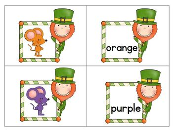 Beginning Sounds, Color Words,  Number Words, and Sets to 10 - St. Patrick's Day