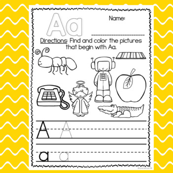 Beginning Sounds: Color & Write
