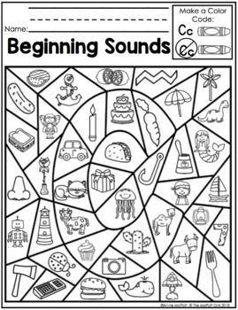 Beginning Sounds Color By The Code By The Moffatt Girls