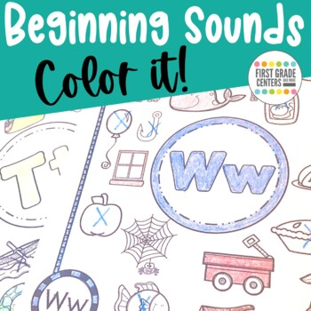 Beginning Sounds: Color it! (Letter of the Week)