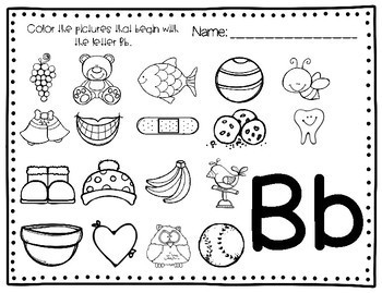 Beginning Sounds - Color the Picture!