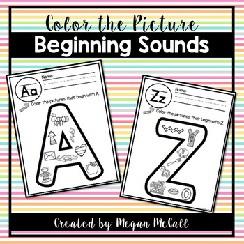 Beginning Sounds-Color the Picture