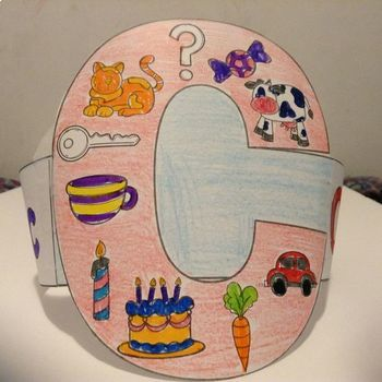 Beginning Sounds Coloring Hats