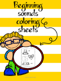 Beginning Sounds Coloring Sheets