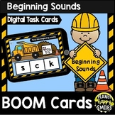 Beginning Sounds Construction Theme BOOM Cards
