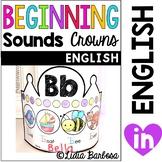 Beginning Sounds Crowns- English