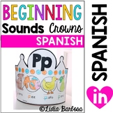 Beginning Sounds Crowns- Spanish