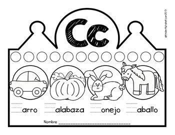 Beginning Sounds Crowns- Spanish