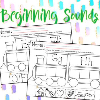 Beginning Sounds Cut & Paste