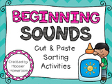 Beginning Sounds Cut & Paste Sorting Activities