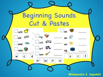 Beginning Sounds by Autism Class | Teachers Pay Teachers