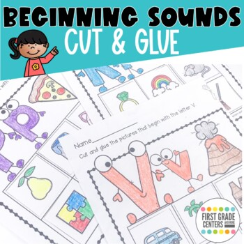 Beginning Sounds: Cut and Glue! (Letter of the Week)