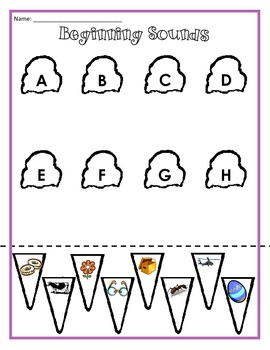 Beginning Sounds Cut-and-Paste