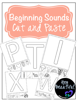 Beginning Sounds Cut and Paste