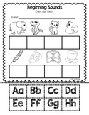Beginning Sounds: Cut and Paste