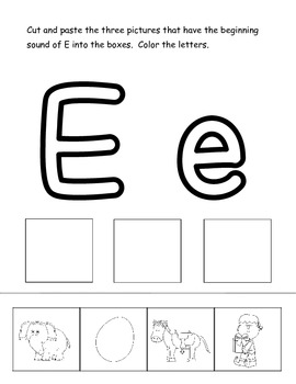 Beginning Sounds Cut and Paste {A Phonemic Awareness Activity}