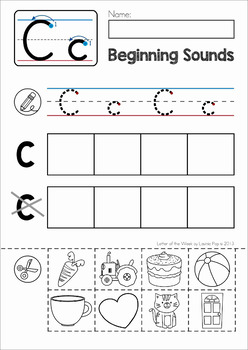 Beginning Sounds Cut and Paste Activity by Lavinia Pop   TpT