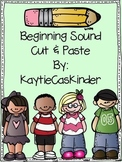 Beginning Sounds: Cut and Paste Freebie