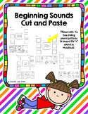 Beginning Sounds Cut and Paste Letters A to Z Phonics