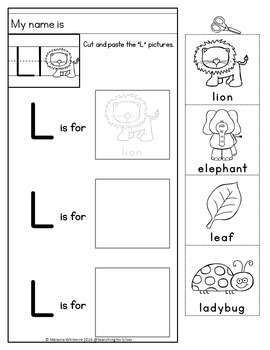 Beginning Sounds Cut and Paste No-Prep