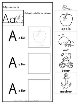 Beginning Sounds Cut & Paste No-Prep by Searching For ...