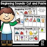 Beginning Sounds (Cut and Paste): Phonemic Awareness