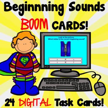 Beginning Sounds DIGITAL Task Cards!