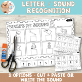 Beginning Sounds Differentiated Cut and Paste Worksheets