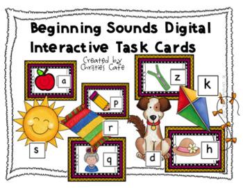 Beginning Sounds Digital Interactive Task Cards