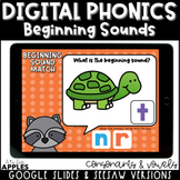 Beginning Sounds Digital Phonics Activities | Distance Learning