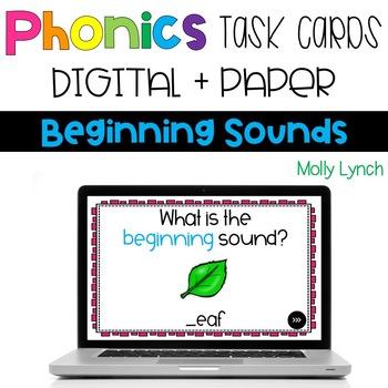 Beginning Sounds Digital Phonics Task Cards