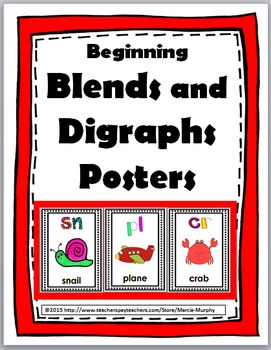 Blends and Digraphs Posters - Phonics Posters