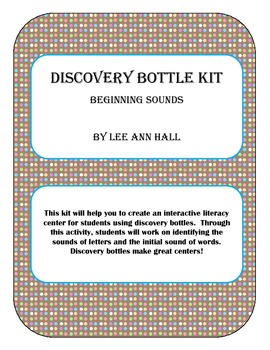 Beginning Sounds Discovery Bottle Activity