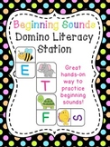 Beginning Sounds Center (Dominoes Literacy Station)