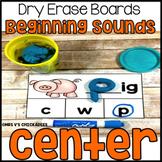 Beginning Sounds Dry Erase Board Center: Initial Consonants