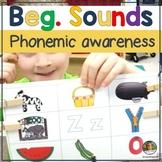 Beginning Sounds Literacy Centers Kindergarten Games