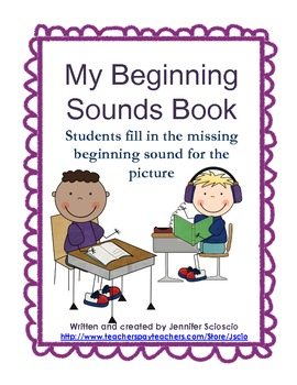 Beginning Sounds Emergent Reader Book {Color Write and Read}