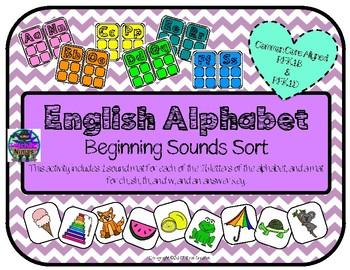 Beginning Sounds English Alphabet Match