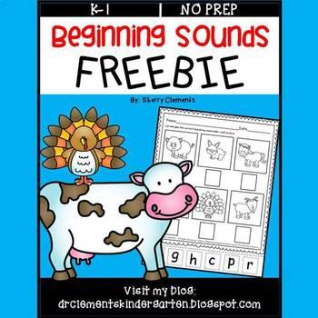 FREE DOWNLOAD : Beginning Sounds (Farm Animals)
