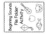 Beginning Sounds File Folder Activity