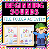 Beginning Sounds File Folder Activity-Letters A-Z