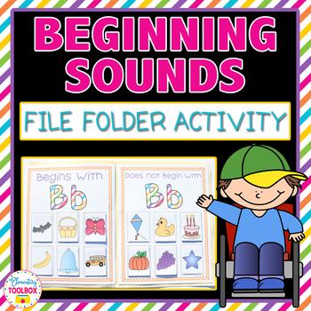 Beginning Sounds File Folder Activity-Letters A-Z