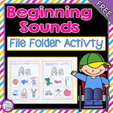 Beginning Sounds File Folder Activity-Letter A