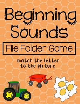 Beginning Sounds File Folder Game