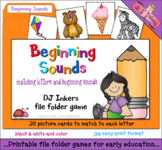 Beginning Sounds File Folder Game Download