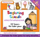 Beginning Sounds File Folder Game Download